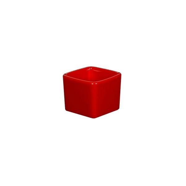 Ёмкость для соуса Куба квадратная глубокая красная 55*55 мм V=50 мл