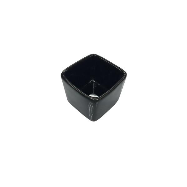 Ёмкость для соуса Куба квадратная глубокая чёрная 55*55 мм V=50 мл