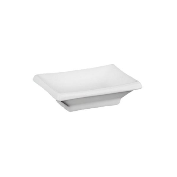 Ёмкость для соуса прямоугольная белая 90*70 мм