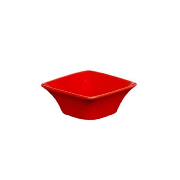 Блюдце для соуса Квадро красное 72*72 мм 70 мл