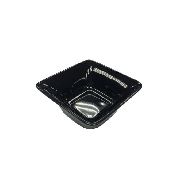 Блюдце для соуса Квадро чёрное 72*72 мм V=70 мл
