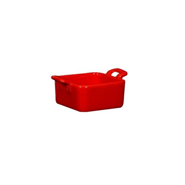 Форма с ручками квадратная красная 68*68 мм H=35 мм V=90 мл