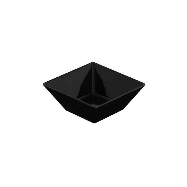 Салатник квадратный чёрный L=100 мм V=200 мл