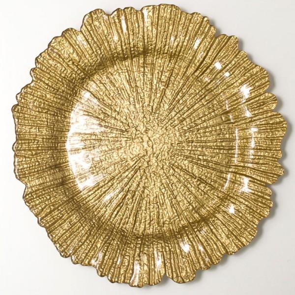Тарелка подстановочная Коралл золото D=320 мм