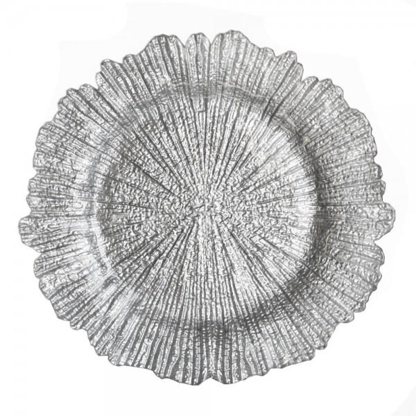 Тарелка подстановочная Коралл серебро D=320 мм