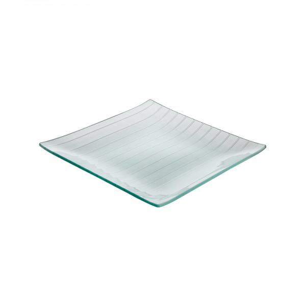 Тарелка стеклянная квадратная L=250 мм