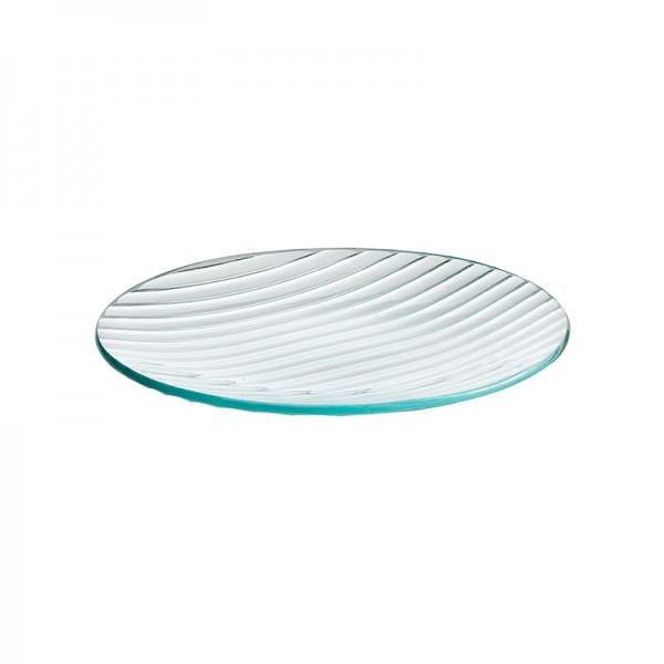 Тарелка стеклянная круглая D=250 мм
