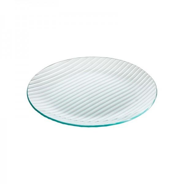 Тарелка стеклянная круглая D=300 мм