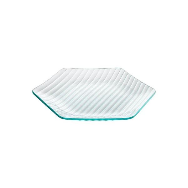 Тарелка стеклянная шестиугольная L=270 мм