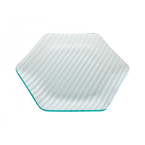Тарелка стеклянная шестиугольная L=320 мм