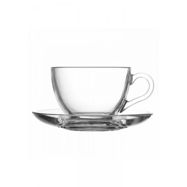 Чайная пара стеклянная V=180 мл