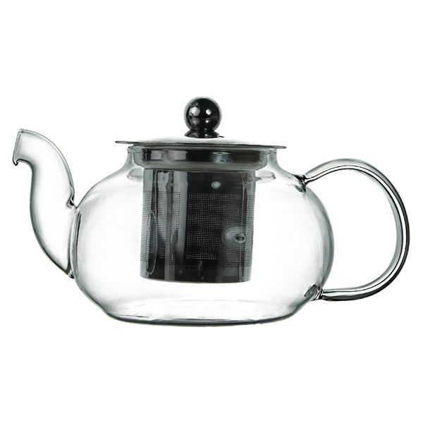 Чайник заварочный стеклянный с фильтром V=600 мл