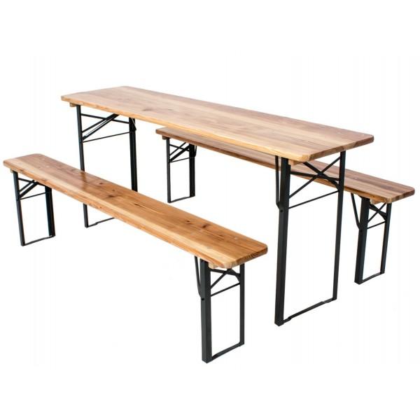 Стол + лавки (пивной комплект)