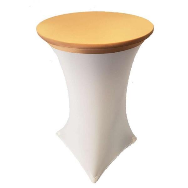 Стрейч наперон Шапочка для коктейльного стола золотой