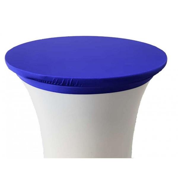 Стрейч наперон Шапочка для коктейльного стола синий