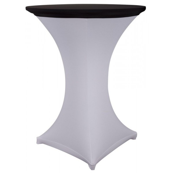 Стрейч наперон Шапочка для коктейльного стола чёрный