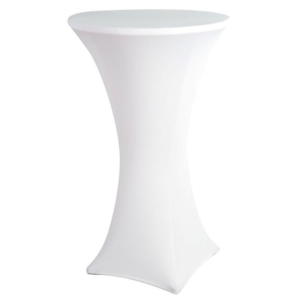 Чехол для коктейльного стола белый (обтягивающий - стрейч)