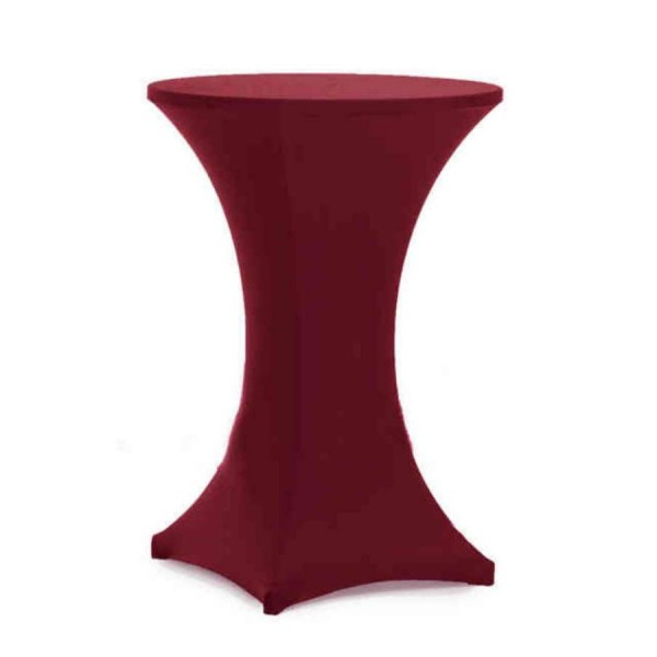Чехол для коктейльного стола бордовый  (обтягивающий - стрейч)