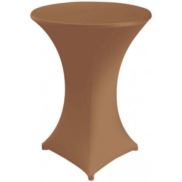 Чехол для коктейльного стола золотой  (обтягивающий - стрейч)