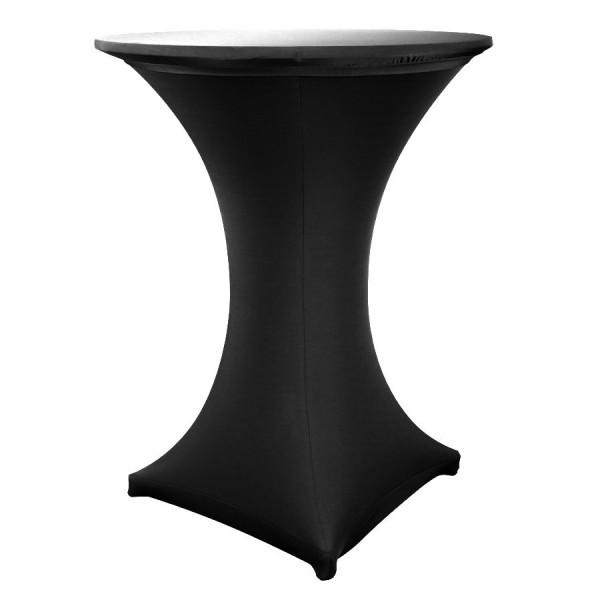 Чехол для коктейльного стола чёрный (обтягивающий - стрейч)