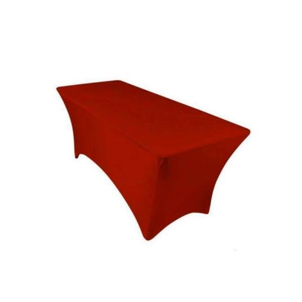 Чехол стрейч для прямоугольного стола бордовый обтягивающий