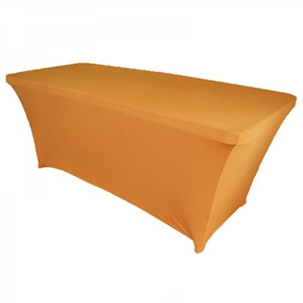 Чехол стрейч для прямоугольного стола золотой обтягивающий