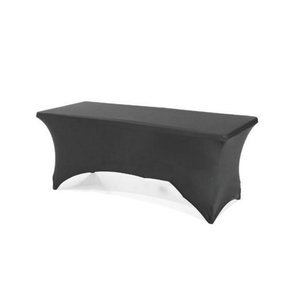 Чехол стрейч для прямоугольного стола чёрный обтягивающий