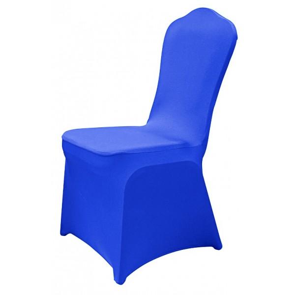 Чехол для стула синий (стрейч)