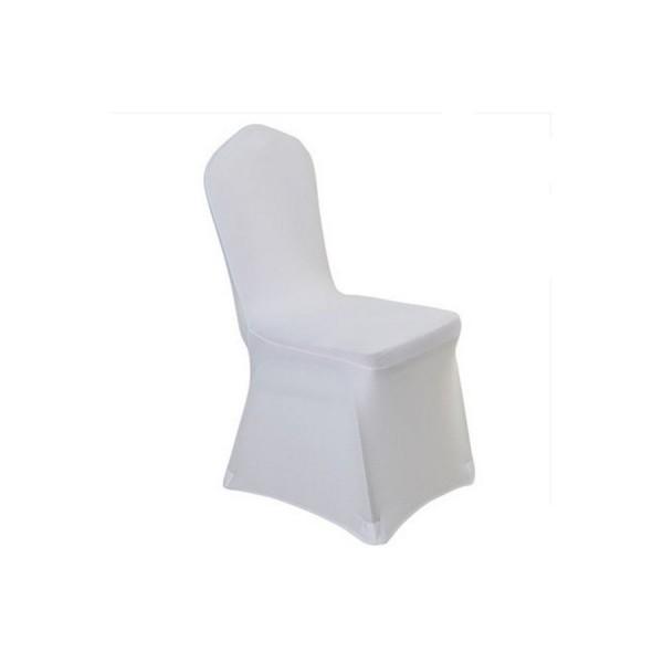 Чехол для стула белый (стрейч)