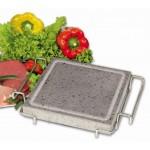 Камень для подачи горячих блюд ILSA с подставкой 190*190*18 мм