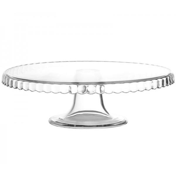 Подставка для торта стеклянная D=280 мм Н=90 мм
