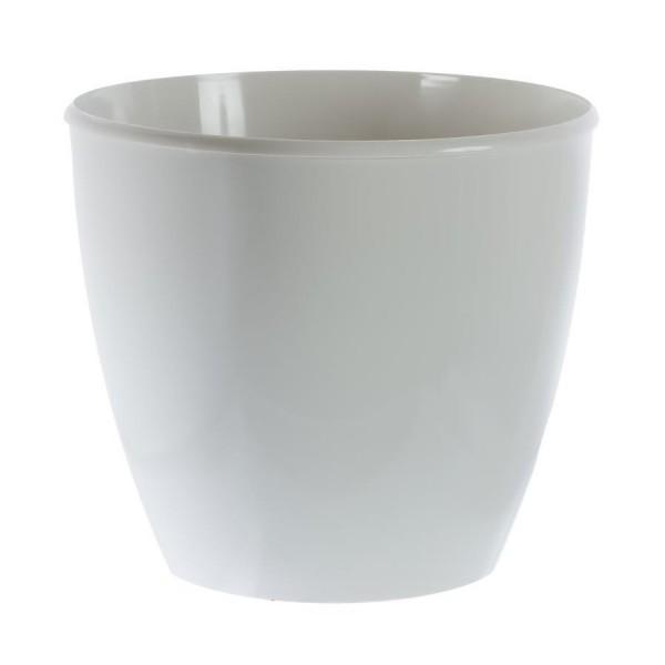Вазон пластиковый. Белый D=360 мм H=320 мм