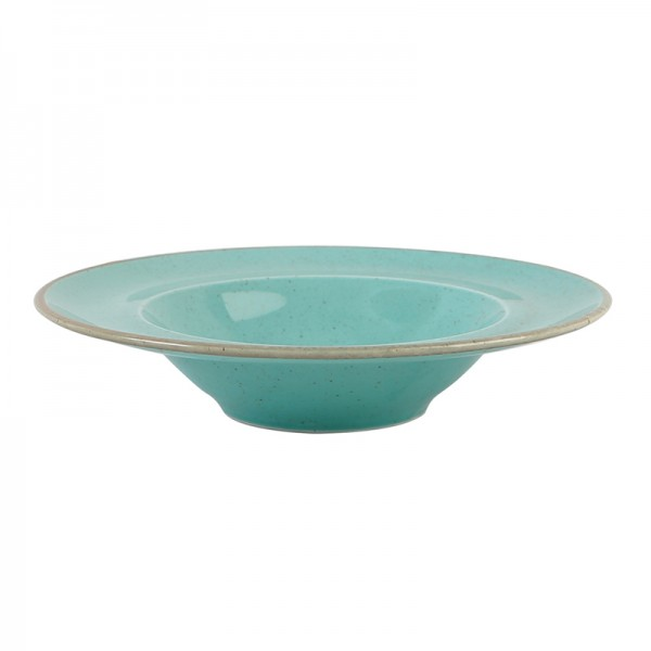 Тарелка Porland для пасты бирюзовая D=310 мм