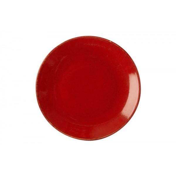 Тарелка Porland закусочная красная D=240 мм