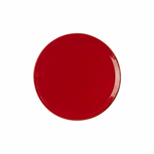Тарелка Porland пирожковая красная D=180 мм