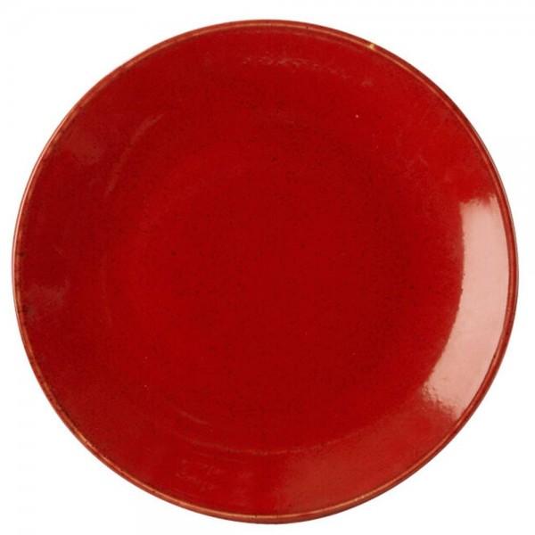 Тарелка Porland подстановочная красная D=280 мм