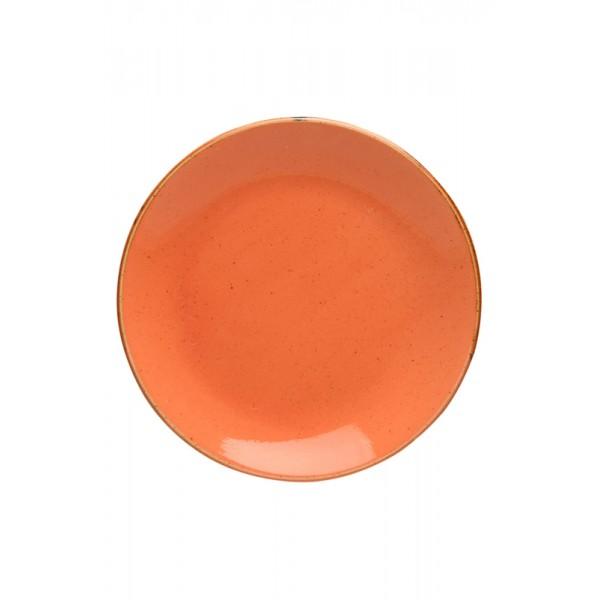 Тарелка Porland закусочная оранжевая D=240 мм
