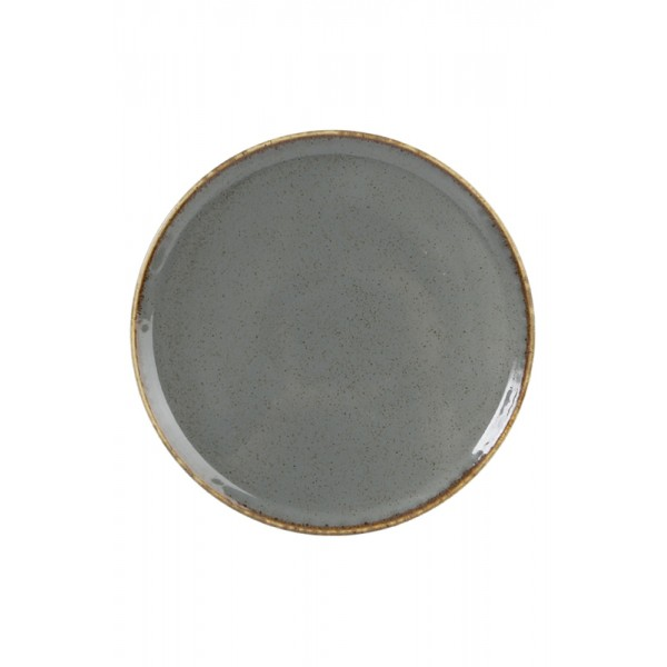 Тарелка Porland закусочная тёмно-серая D=240 мм