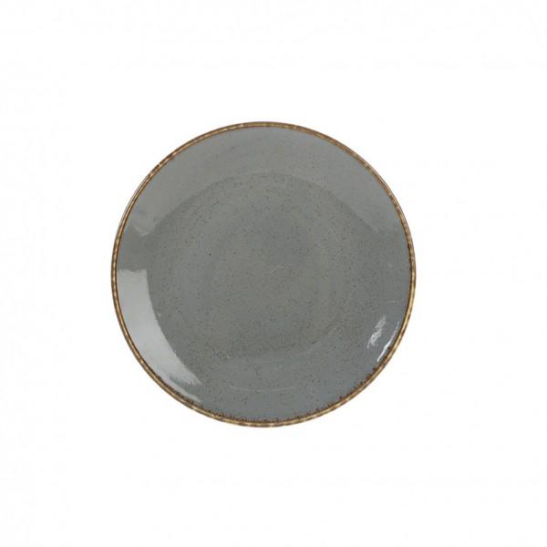 Тарелка Porland пирожковая тёмно-серая D=180 мм