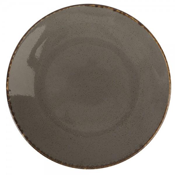 Тарелка Porland подстановочная тёмно-серая D=280 мм
