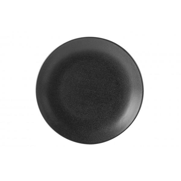 Тарелка Porland закусочная чёрная D=240 мм