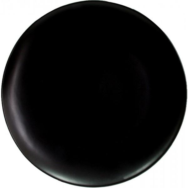 Тарелка Porland подстановочная чёрная D=280 мм