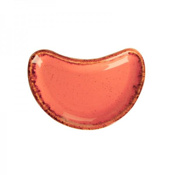 Тарелочка Porland для комплимента полумесяц оранжевая 100*70 мм