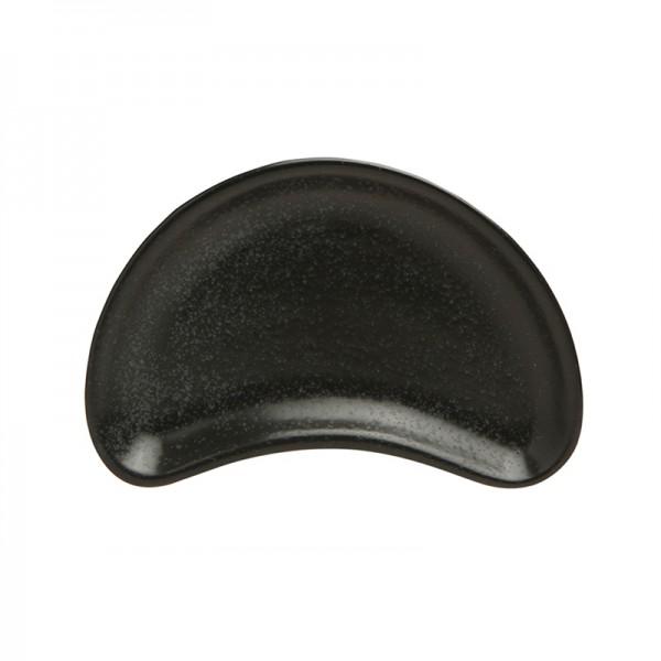 Тарелочка Porland для комплимента полумесяц чёрная 100*70 мм