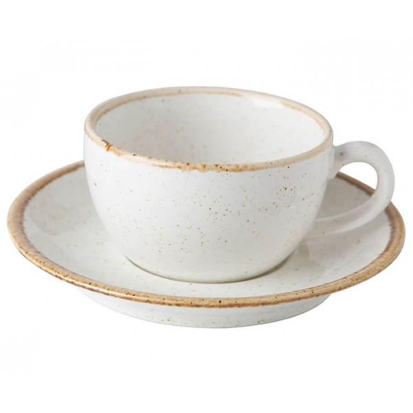 Чайная пара Porland бежевая V=250 мл