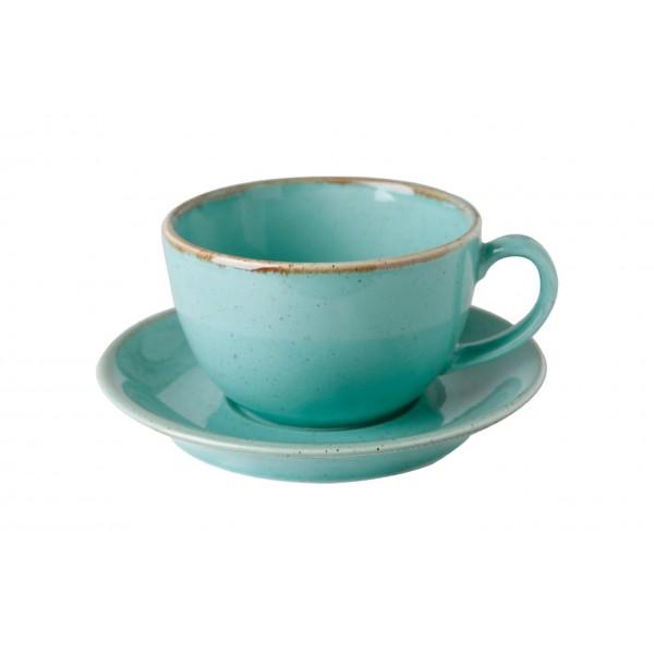 Чайная пара Porland бирюзовая V=250 мл