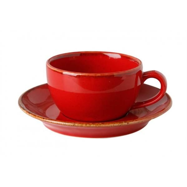 Чайная пара Porland красная V=250 мл
