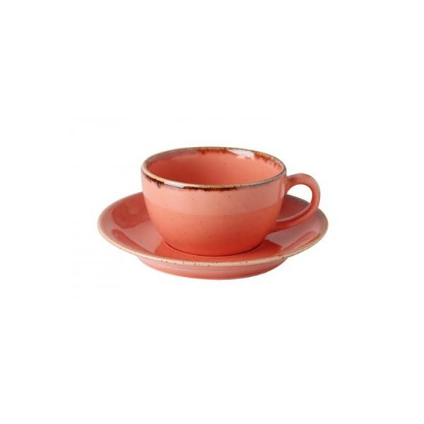 Чайная пара Porland оранжевая V=250 мл