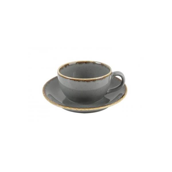 Чайная пара Porland тёмно-серая V=250 мл