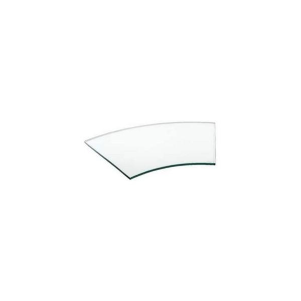 Поднос для сервировки изогнутый Zeiher из прозрачного стекла 375*620 мм